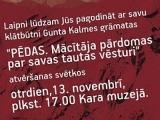 09.11.2012. Notiks mācītāja Gunta Kalmes jaunās grāmatas prezentācija