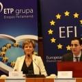 """30.01.2013. Ārvalstīs: EP deputāte I. Vaidere (V) novadīja diskusiju """"Izraēlas finansiālā stratēģija: ko Eiropa var mācīties"""""""