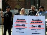 """03.06.2013. Latvija: 04.06. pie Brīvības pieminekļa norisināsies mītiņš """"Protests pret eiro ieviešanu bez tautas akcepta"""""""