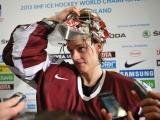 13.05.2013. Latvija: Gudļevskis pēc uzvaras pateicas komandai, treneriem un Dievam