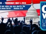 """01.05.2014. ASV norisinājās valsts lūgšanu svētki """"Viena balss, vienota lūgšana"""""""