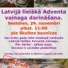 Skultē taps Latvijā lielākais Adventa vainags