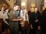 Betlēmes Miera uguns iedegšana Rīgā un aizlūgšana par mieru Ukrainā