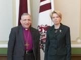 29.01.2015. Saeimas priekšsēdētāja I. Mūrniece tiekas ar Pasaules Luterāņu federācijas prezidentu
