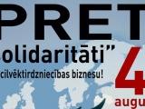 """Latvijas iedzīvotāji protestē pret """"bēgļu"""" uzņemšanu Latvijā"""