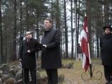 Ebreju geto ieslodzīto iznīcināšanas piemiņai/Latvijas prezidents Vējonis: Mūsu vidū bija ļaunuma pārņemti nelieši