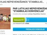 """Ir savākts 10 000 parakstu par Latvijas nepievienošanos """"Stambulas konvencijai"""""""