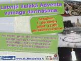 Latvijā lielākā Adventa vainaga darināšana