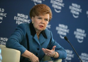 Vaira Vike-Freiberga, President of Latvia. Copyright by World Economic Forum. Photo by E. T. Studhalter